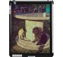 Neighborhood squabbles iPad Case/Skin