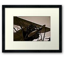 Vintage Bi Plane Framed Print