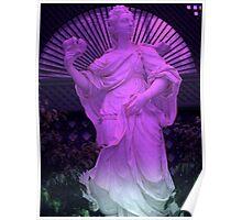 """""""Purple Statue 11""""  Poster"""