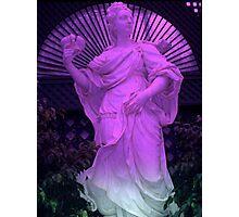 """Purple Statue 11""  Photographic Print"