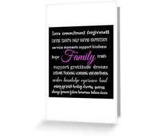 Family - Typographical Design Greeting Card