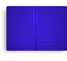 """Blue Closet Doors"" by Chip Fatula Canvas Print"
