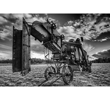 Thresher in Black and White Photographic Print