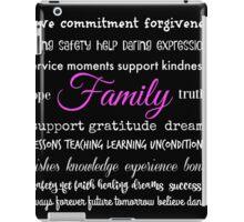 Family - Typographical Design iPad Case/Skin