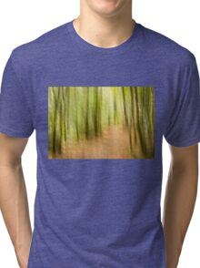 A run in the forest Tri-blend T-Shirt