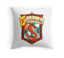 Firebender Crest Throw Pillow