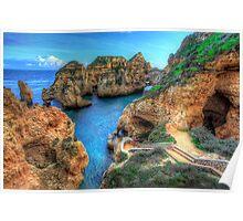 Grottos at Ponta Piedade Poster