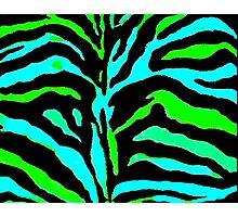 """Digital Zebra Green"" Photographic Print"