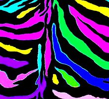"""Digital Zebra Multicolor"" by Chip Fatula by njchip123"