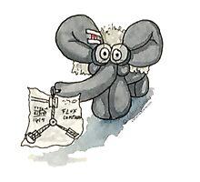 Doc Elephant Brown by katherinedownie