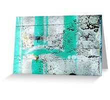 Green Stripe Greeting Card
