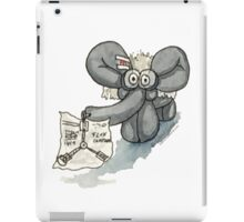 Doc Elephant Brown iPad Case/Skin
