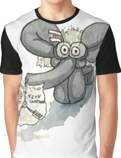 Doc Elephant Brown Graphic T-Shirt