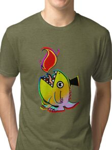 Rainbow Dino Tri-blend T-Shirt