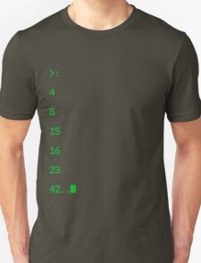 lost numbers Unisex T-Shirt