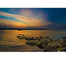 Sunset time at seaside Photographic Print