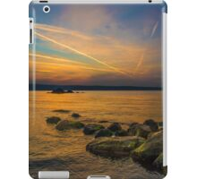 Sunset time at seaside iPad Case/Skin