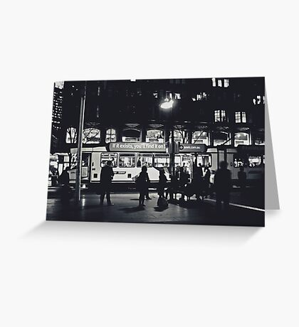 Swanston Street Tram Greeting Card