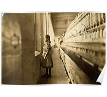 Vintage Photograph of Child Spinner Poster