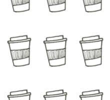 travel mugs aligned Sticker