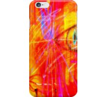 """Red Tulip Lady"" by Chip Fatula iPhone Case/Skin"