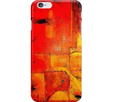 """Orange Abstract"" by Chip Fatula iPhone Case/Skin"