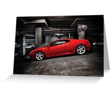 Ferrari 360 Modena Greeting Card