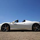 White Ferrari 458 Spider by celsydney