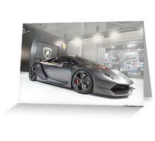 Lamborghini Sesto Elemento Greeting Card