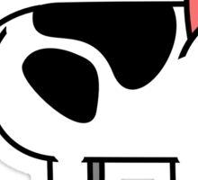 Cow Cat Sticker