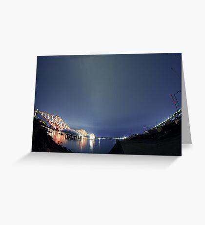 Forth Bridge Alternative Greeting Card