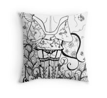 Blossom Zentangle Throw Pillow