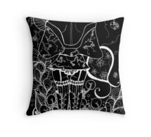 Blossom Zentangle in negative Throw Pillow