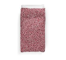Cell Pattern Red Bubbles Duvet Cover