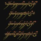 "One Ring ""Inscription"" by chester92"