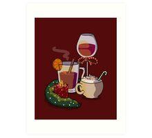 Holiday Drinks Art Print
