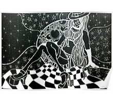 Moon Minx Zentangle in negative Poster