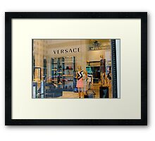 Versace 5th Avenue Street Vew Framed Print