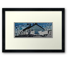 Down by the Cobb in Lyme Regis Framed Print