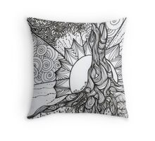 Tree of Life Zentangle Throw Pillow