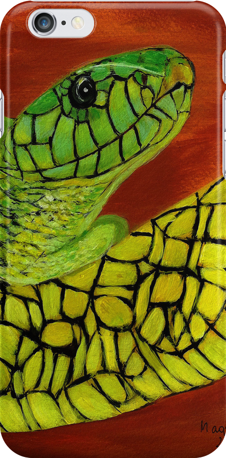 Snake  Iphone case  by maggie326