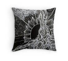 Tree of Life Zentangle in negative Throw Pillow