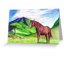 Horse in Landscape Greeting Card