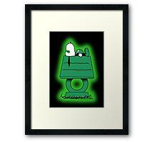 Snoopy Lantern Framed Print