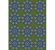 Purple, Blue, Green Mandala Photographic Print