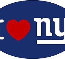 I LOVE NY (Giants) Euro Sticker - Alternate by cpinteractive