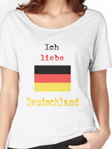 I Love Germany Vintage Style Women's Relaxed Fit T-Shirt