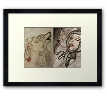 two sides, one story. Framed Print