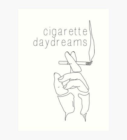 Cigarette Daydreams - In Black & White Art Print