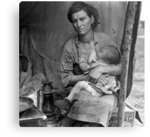 Vintage Photograph of Migrant Mother Metal Print